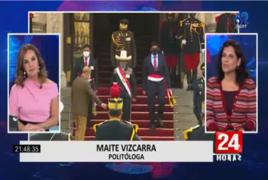 """Maite Vizcarra: """"Hay una primera señal de consenso en una política que parecía que iba a enfrentar a izquierda y derecha"""""""