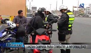 Brevetes en Barranca: lanzan campaña para combatir las motos informales