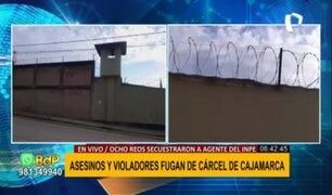 Fuga en penal de Cajamarca: peligrosos delincuentes habrían escapado a frontera con Ecuador