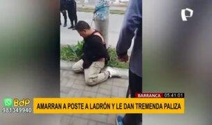 Barranca: amarran a ladrón a poste y le dan tremenda paliza