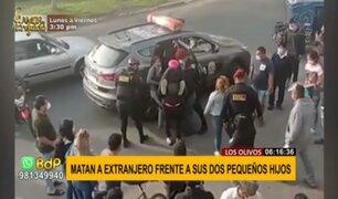 ¡Terrible! Extranjero es asesinado a balazos frente a sus dos pequeños hijos en Los Olivos