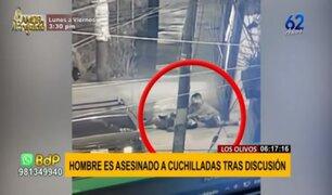 Los Olivos: hombre es asesinado a cuchilladas tras discusión
