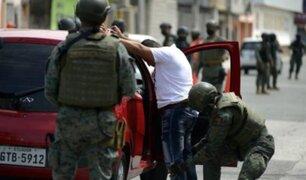 Ecuador decretó estado de excepción para combatir delincuencia y narcotráfico