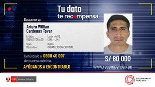 Dinámicos del Centro: Mininter ofrece hasta S/80 000 a cambio de datos para capturarlos