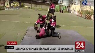 Pueblo Libre: mujeres del Serenazgo se capacitan en artes marciales