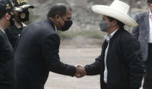 Presidente Castillo se reunió con ministro Luis Barranzuela en Palacio de Gobierno