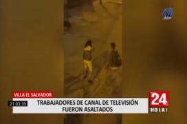 Villa El Salvador: asaltan a mano armada a trabajadores de canal de televisión