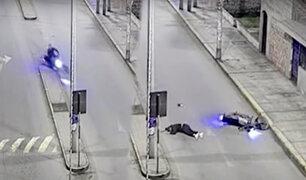Cañete: motociclista termina inconsciente tras caer al pavimento sin casco