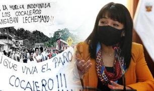 Cocaleros de Puno levantarán paro, anunció premier Mirtha Vásquez