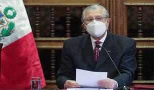 Canciller Maúrtua sobre Voto de Confianza: Confío en que primará la sensatez en el Congreso