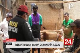 Barranca: desbaratan banda implicada en minería ilegal