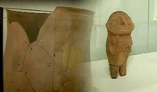 Hallan vasija funeraria con un individuo dentro en obras de ampliación de Jorge Chávez