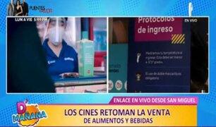 D'Mañana: cines retoman la venta de alimentos y bebidas