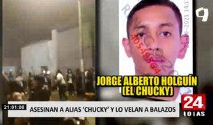 """La Victoria: asesinan a peligroso delincuente alias """"Chucky"""" y lo homenajean realizando disparos"""