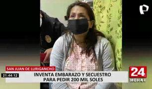 Mujer que fingió embarazo y secuestro para estafar a su pareja será investigada por la Fiscalía