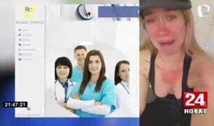 Mujer denuncia que fue agredida en clínica de reposo Caravedo