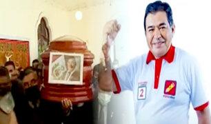 Velan restos del congresista Fernando Herrera de Perú Libre en Paseo Colón