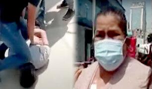 La Victoria: delincuente rompe catéter de mujer al robarle la cartera