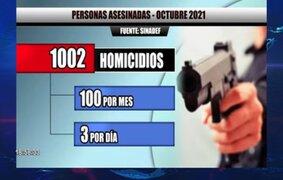 Cifras de terror: tres asesinatos ocurren cada 24 horas en el Perú, según Sinadef