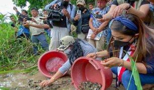 Primera Dama dirigió comitiva de ayuda para comunidades nativas de Ucayali
