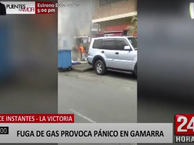 La Victoria: explosión de balón de gas generó pánico en Gamarra