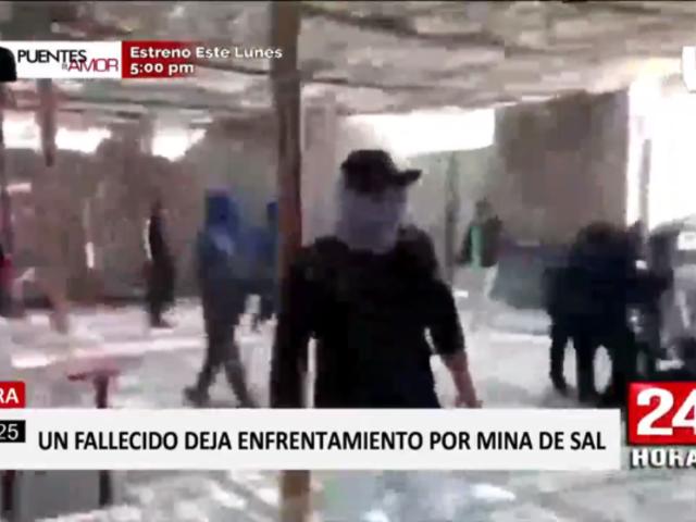 Piura: un muerto deja balacera entre facciones por control de mina