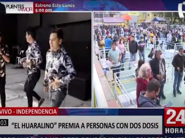 """""""El Huaralino"""" premia a personas vacunadas con las dos dosis contra la Covid-19"""
