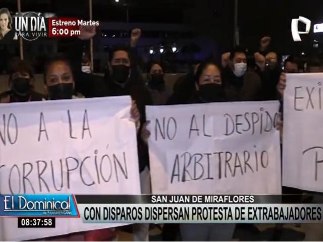 SJM: con disparos dispersaron a trabajadores que protestaban en la municipalidad del distrito