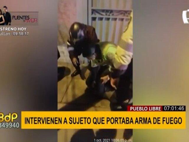 Pueblo Libre: intervienen a sujeto en actitud sospechosa con un arma de fuego