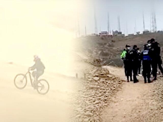 Chorrillos: ciclista fallece frente a su hijo tras accidentarse en el Morro Solar