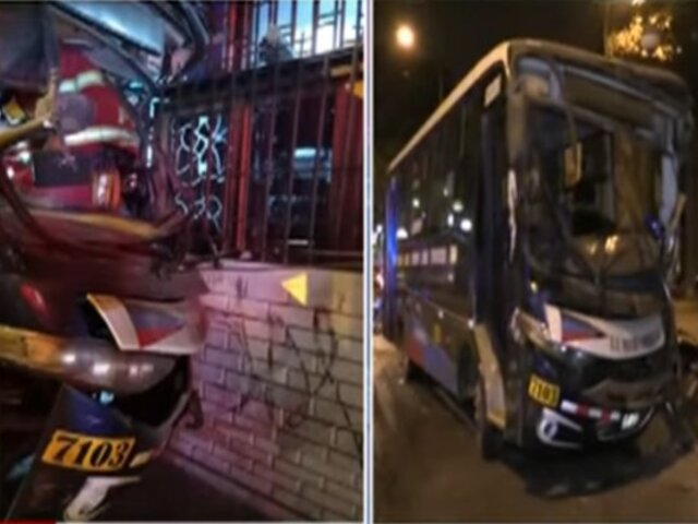 ATU suspendió habilitación de ómnibus que chocó contra lavandería en Chorrillos