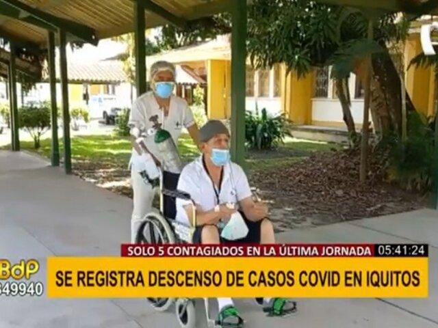 Descenso de casos covid-19 en Iquitos: solo 5 contagiados en última jornada