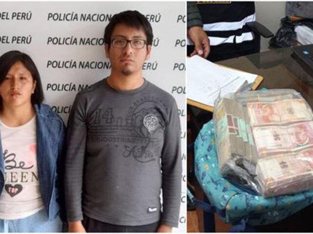 Huancayo: intervienen a joven que robó más de S/100 mil a su madre