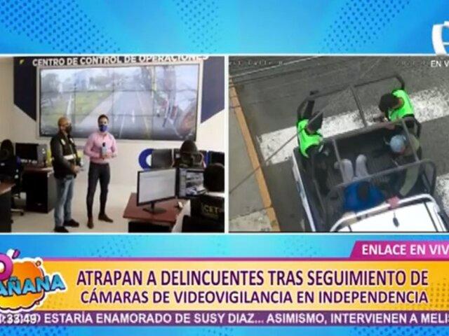 Independencia: capturan a delincuentes gracias a cámaras de videovigilancia