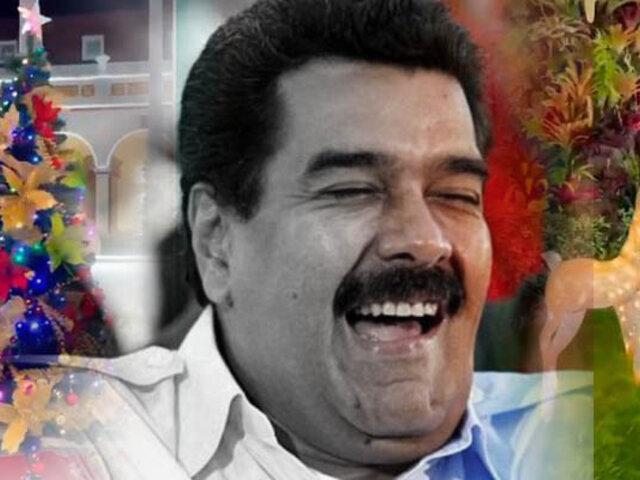 Maduro adelanta la Navidad en medio de la peor crisis que afronta Venezuela