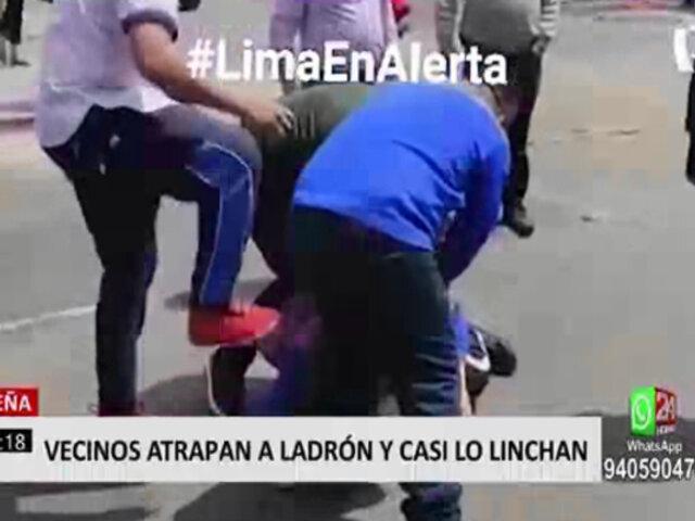 Breña: vecinos atraparon a delincuente y le propinaron una golpiza