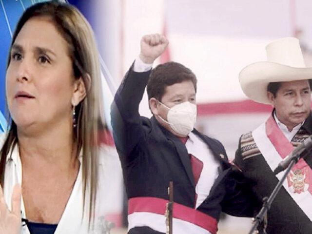Marisol Pérez sobre Cerrón y Bellido: el error del presidente fue construir el gobierno sobre ellos