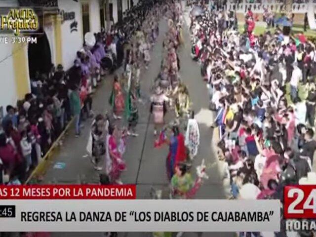 """Cajamarca: luego de 12 meses se volvió a lucir la danza de los """"Diablos de Cajabamba"""""""