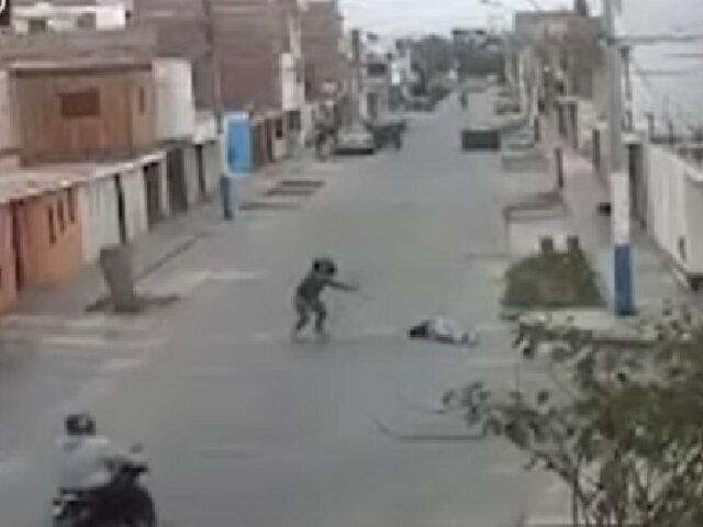 Callao: sicarios balean a joven en plena calle y sobrevive