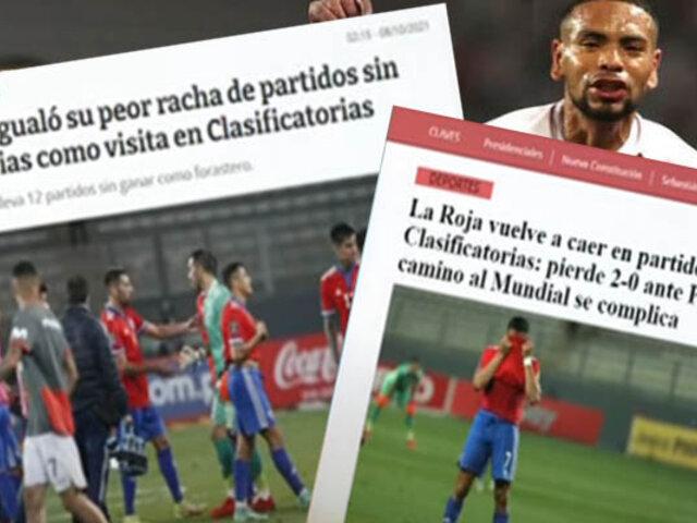 Medios de Chile decepcionados tras derrota ante Perú