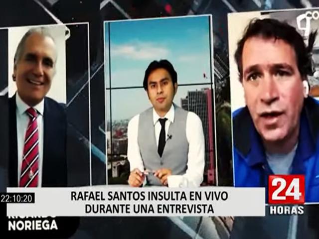 Rafael Santos menta la madre a Ricardo Noriega durante programa en vivo
