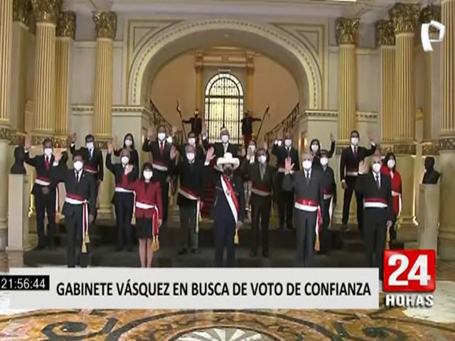 Gabinete ministerial presidido por Mirtha Vásquez buscará el voto de confianza