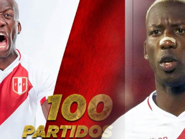 Luis Advíncula alcanza los 100 partidos oficiales con la Bicolor