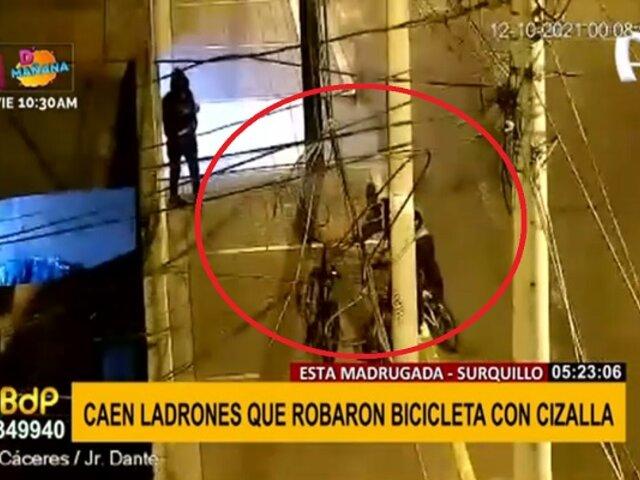 Persecución en Surquillo: capturan a banda dedicada al robo de bicicletas