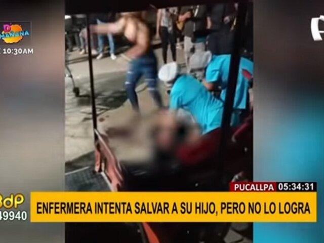 ¡Desgarrador! Enfermera intenta salvar a su hijo tras aparatoso accidente automovilístico
