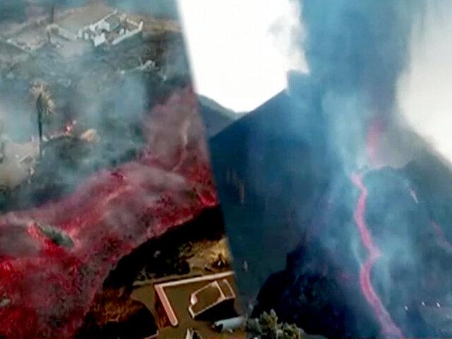 Volcán Cumbre Vieja: lava llega a cementera y provoca nube de gases tóxicos