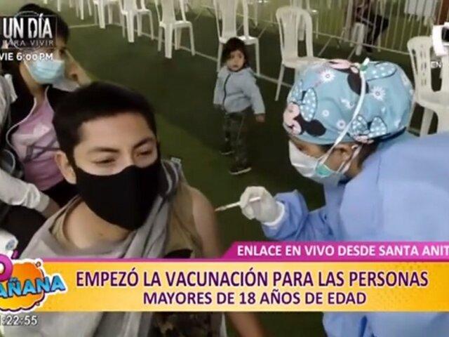 Vacunación para mayores de 18 años: así se desarrolla jornada de inmunización en Santa Anita