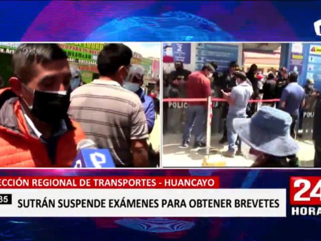 Huancayo: Sutrán suspende exámenes para obtener brevetes