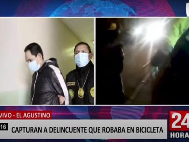 El Agustino: capturan a peligroso delincuente que sembraba terror en el distrito