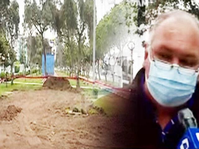 Vecinos de Mirones Bajos denuncian que están destruyendo su parque